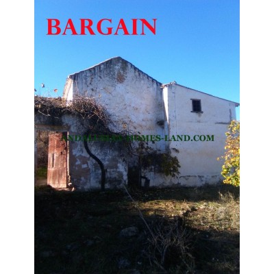 RUINS AND LAND WITH MAGICAL VIEWS TO THE MONTAIN OF SIERRA NEVADA IN VILLANUEVA DE TAPIA
